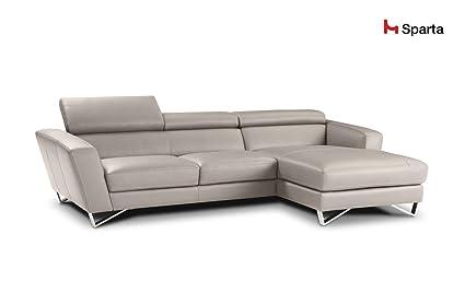 Sparta Fabric Sectional Sofa By Nicoletti (Beige)