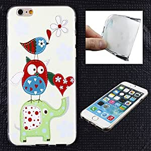 SHOUJIKE The Elephant and Owl Pattern TPU Ultra Soft Case for iPhone 6 Plus