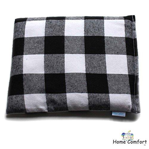 Microwave Heating Bags - Microwaveable Heating Pad (Black Plaid)