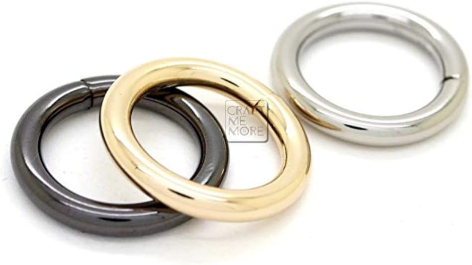 """1/""""//25MM 3//4/""""//19MM 5//8/""""//16MM 1//2/""""//12MM SOLID BRASS CIRCLE O RINGS POLISHED"""