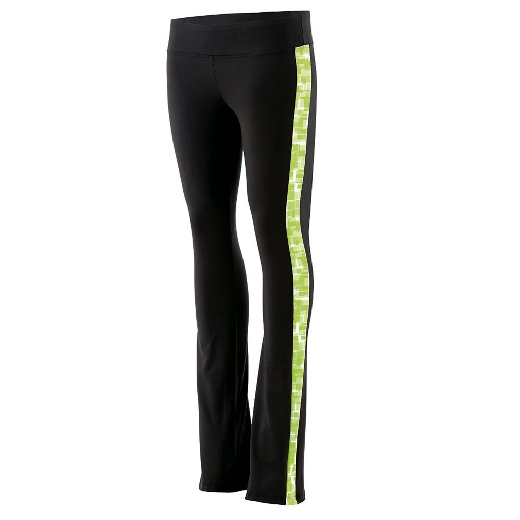 Holloway Juniors Superstar Fitted Pants (Large, Black/Lime Print) by Holloway