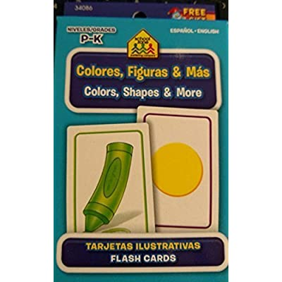 School Zone Bilingual Spanish English Colors (Colores), Shapes (Formas), & More Flash Cards Grades P-K: Toys & Games