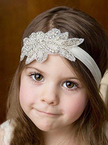 Unicra Elastic Fabric Headbands Flower Girl Headband, Rhinestone Headband, Bridal Headband, Crystal Headband