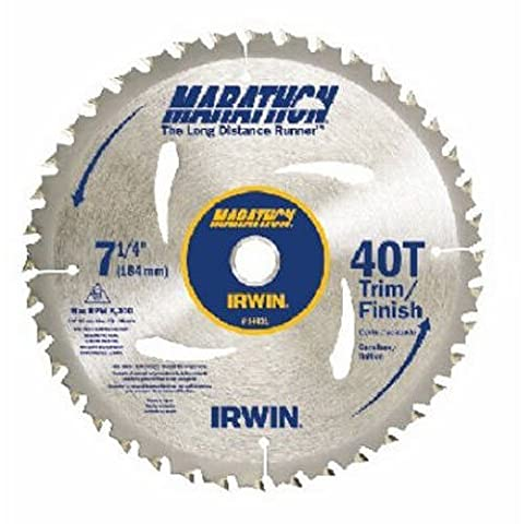 IRWIN Tools MARATHON Carbide Corded Circular Saw Blade, 7 1/4-inch, 40T (14031) (Saws All Blade Handle)