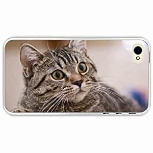 iPhone 4 4S Black Hardshell Case eyes brooding Transparent Desin Images Protector Back Cover