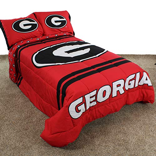 georgia bulldogs comforter queen - 3