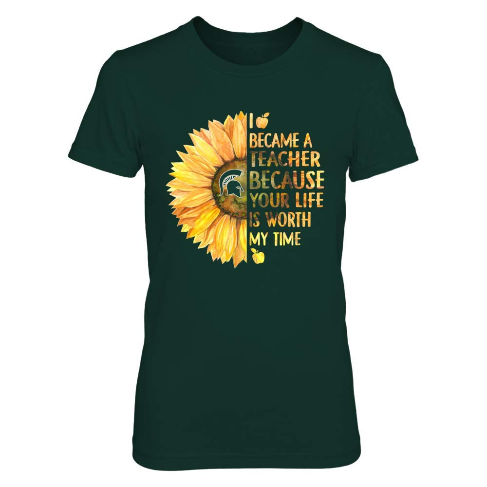 FanPrint Michigan State Spartans T-Shirt Teacher