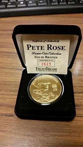 FIELD OF DREAMS PETE ROSE Solid Bronze Medallion COIN