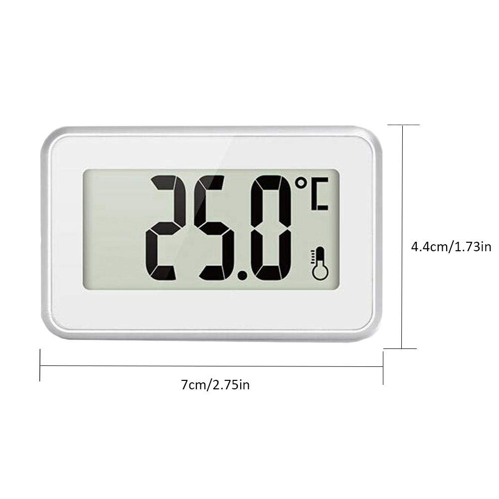 sweetyhomes Refrigerator Thermometer Digital Freezer Fridge with Hook Easy to Read LCD Display Room Temperature Monitor