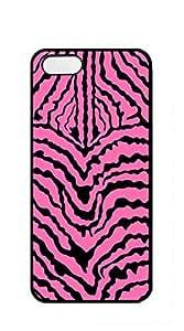 Hard Skin Case Cover Shell case iphone 5s blue - Black and white zebra print
