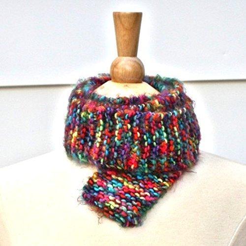 Amazon Bright Colorful Rainbow Soft Knit Long Skinny Scarf