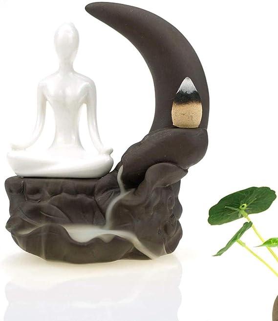 滝リフロー炉のバーナーアロマセラピー瞑想の装飾品の家の装飾、置物香炉手作りアロマお香