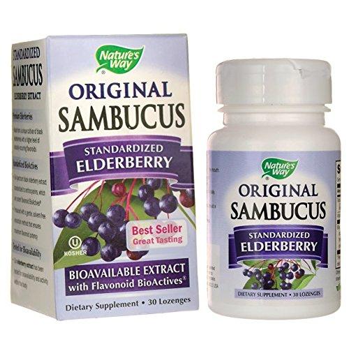Natures Way Sambucus Lozenge Tablet, 30 ct
