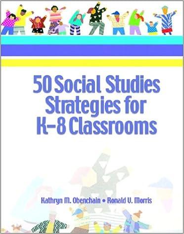Descargar libro español gratis 50 Social Studies Strategies for K-8 Classrooms by Kathryn M. Obenchain,Ronald V. Morris PDF iBook 0130284637