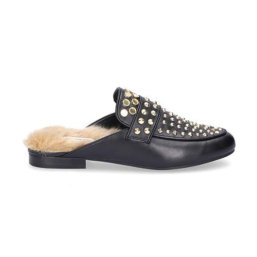 Steve Madden - Mocasines para Mujer Negro Negro IT - Marke Größe, Color Negro, Talla 37.5 EU: Amazon.es: Zapatos y complementos