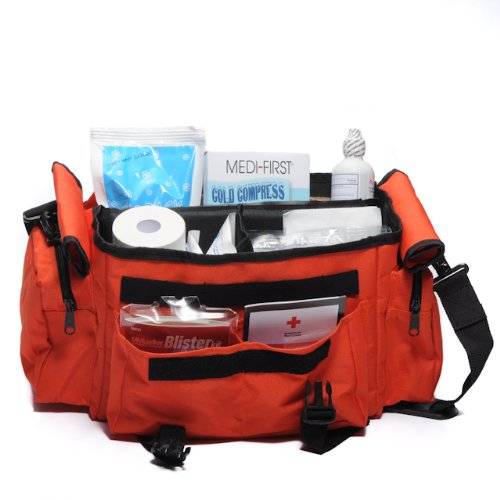 Sports First aid Kit Bag Orange Complete 277 Piece
