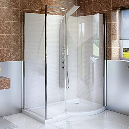 Walkin Shower And Tray 1400x900 6mm Glass Right Enclosure Complete