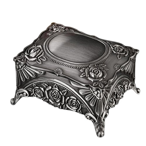 Information Decorative Floral Gift Box - Nerien Vintage Metal Jewelry Box Decorative Floral Trinket Storage Organizer