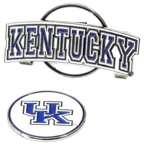 LinksWalker Slider Hat Clip w/ Ball Marker (NCAA, Kentucky Wildcats) (Kentucky Wildcats Hat Clip)