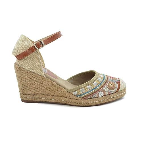 Cuña de Esparto Xti 064248 Taupe - Xti: Amazon.es: Zapatos y complementos