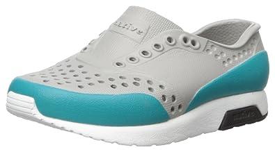native Kids Kids' Lennox Block Slip-on, Pigeon Grey/Shell White/