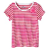 Circo Infant Toddler Girls' Striped Short-Sleeve Tee - Pink 3T (6 Pack)