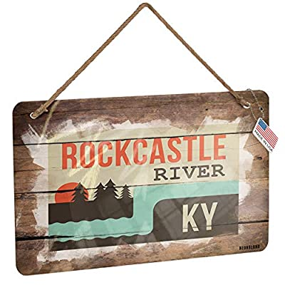 NEONBLOND Metal Sign USA Rivers Rockcastle River - Kentucky Christmas Wood Print