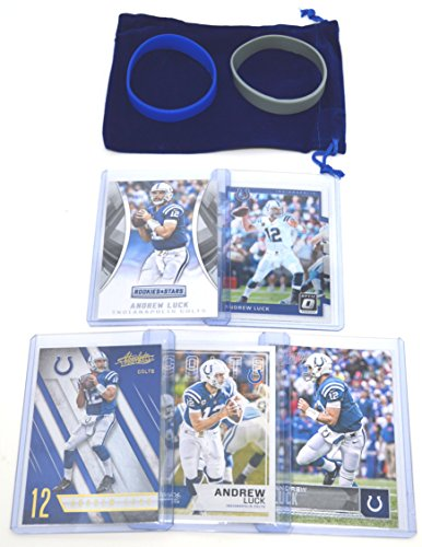 - Andrew Luck Football Cards Assorted (5) Bundle - Indianapolis Colts Trading Cards
