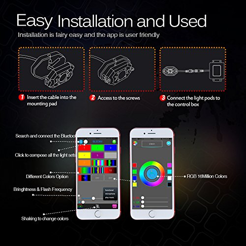 Mictuning Rgb Led Rock Lights With Upgraded App Bluetooth