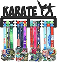 GENOVESE Taekwondo Karate Medal Holder Display Hanger Rack Frame,Black Sturdy Steel Metal,Wall Mounted Medals