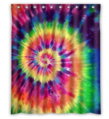 e Rainbow Spirals Fractal Bathroom Shower Curtains 100% Polyestey 66 X 72 inch ()