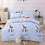 XiYunHan Cartoon Style Quilt Set of Four Sets, Animal, Moon and Smile Cute Style Bedding.