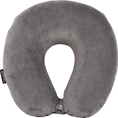 30 x 30 x 11 cm Wuku tree Travel Pillow Memory Foam Grey