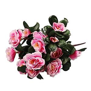 Icocol Artificial Bouquet Simulation Of Azalea Safflower Wedding Home Decoration Party Home Décoration (Pink) 97