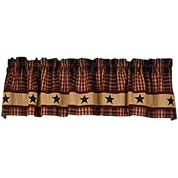 Amazon Com Sturbridge Lined Point Valance Wine 72