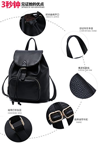 Leather Daily Travel Bag Ladies Women Backpack Small Purse Casual Girls EfxqTxFnUR