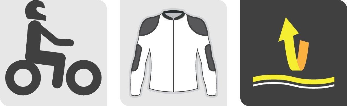 Black, Size 44 Alpinestars Renee Womens Textile//Leather Riding Jacket