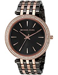 Michael Kors Womens Darci Grey Rose Gold-Tone Watch MK3584