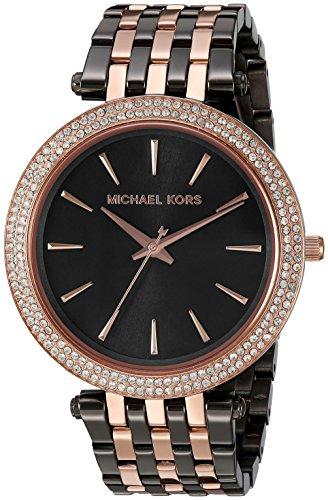 ae7321bc33c3 Michael Kors Women s Darci Grey Rose Gold-Tone Watch MK3584