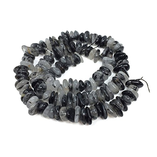 Top Quality Natural Black Quartz Rutilated Gemstone 6-10mm Rondelle Stone Beads 15 inch for Jewelry Craft Making GZ8-1