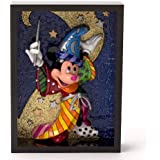 Romero Britto Sorcerer Mickey Mouse Pop Art Display Block