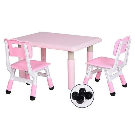 WFENG Sillas y mesa de altura ajustable para niños Plástico ...