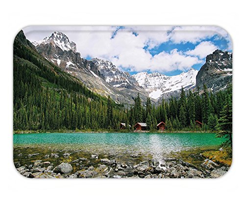 Minicoso Doormat Landscape Canada Ohara Lake Yoho National Park with Mountains Nature Scenery Art Photo - Ohara Chicago