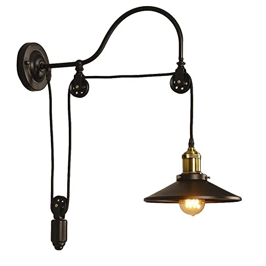 Industrial pulley wall sconce motent antique adjustable gooseneck industrial pulley wall sconce motent antique adjustable gooseneck wall mounted lamp wheel wall light fixture aloadofball Choice Image