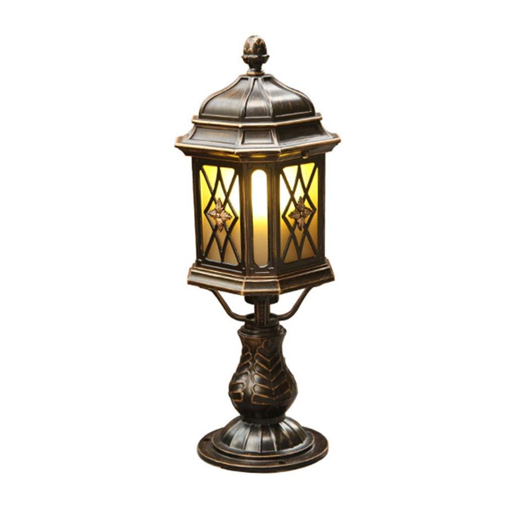 スポットライト 柱ランプ、壁ランプ 中庭の装飾 屋外防水フェンスコラムランプ 屋外中庭ヴィラランプ ガーデンランプ 防水超明るい壁ランプ (Color : Bronze, Size : 19*50cm) 19*50cm Bronze B07SSSYWVT