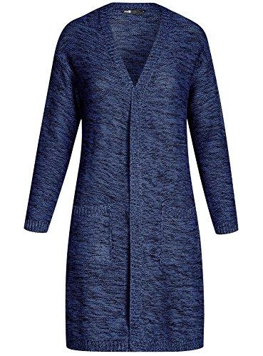 Cardigan Femme avec 7929m Poches Long Ultra Bleu oodji ARqwTx