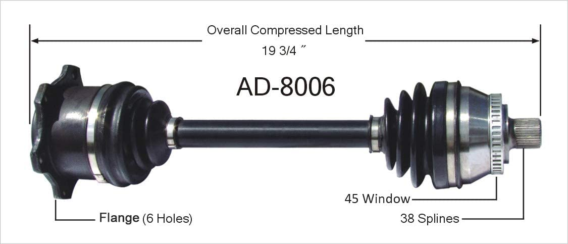 SurTrack AD-8006 CV Axle Shaft