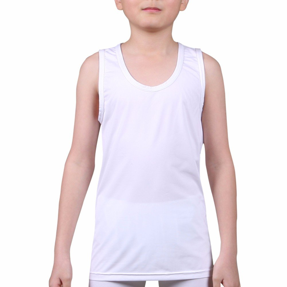 Kids Compression Tank Top Underwear Boys Youth Base Layer Sleeveless Shirt RK Henri maurice