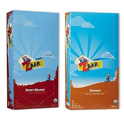 Kid Zbar 18 Honey Graham/18 Smores (18 Both Flavors)