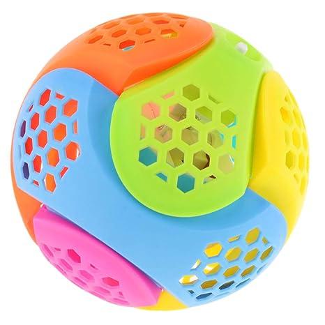 Sharplace Juguete de Bola de Salto Eléctrica Musical Parpadeo Juego Divertido para Niños